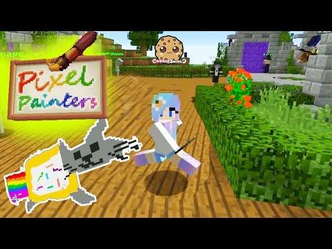 Minecraft Pixel Painters & Super Paint Ball Cookieswirlc Online Game Video