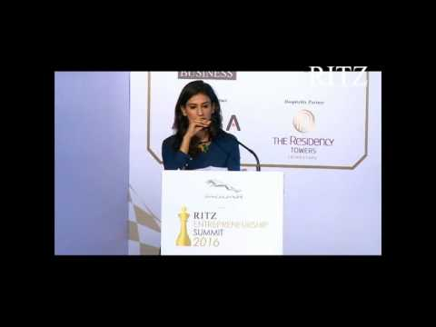 Kaabia Grewal at Jaguar RITZ Entrepreneurship Summit 2016, Coimbatore