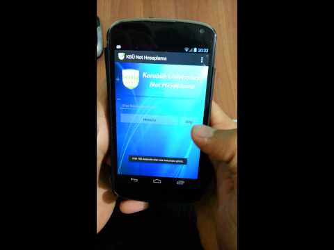 Video of KBÜ Not Hesaplama
