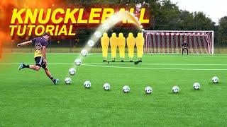 Wie man einen Knuckleball (Flatterball) schießt - Profi Freistoß Tutorial | freekickerz