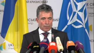 preview picture of video 'NATO Secretary General Press Point - Kiev, Ukraine, 07 August 2014 - Part 2/2'