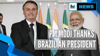 PM Modi thanks Jair Bolsonaro for giving Indians visa-free entry into Brazil