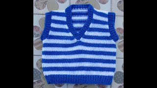 Easy Knitting pattern for a  sleeveless top for a  3 to 6 month old baby