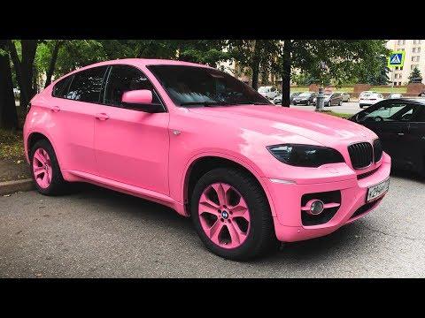 Розовый BMW X6. CHASER. E38 V12. MURCIELAGO. F30. M4. PORSCHE 911. LAMBORGHINI. Илья kickdown TOYOTA