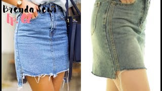 PINTEREST INSPIRED  DIY DENIM SKIRT | DIYBRENDA Ep.02