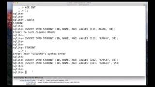 Introduction to SQLite Rows
