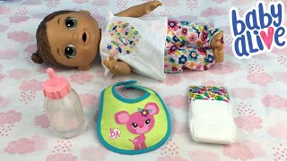Baby Alive Doll Feeding and Changing