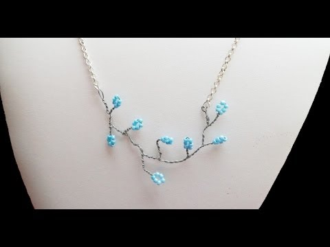 Download PandaHall Jewelry Making Tutorial Video--How To Make Twisted Wire Flowering Branch Necklace HD Mp4 3GP Video and MP3