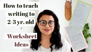 How To Teach 2 - 3 Year Old Kids WRITING | Daily PRACTICE WORKSHEET for Toddler, Preschool, Nursery