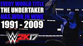 WWE 2K17: Every World Title The Undertaker Has Won In WWE (1991 - 2009)