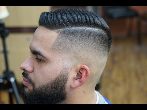 Barber Tutorial: Skin Fade with Straight Razor, Comb Over and Beard Trim