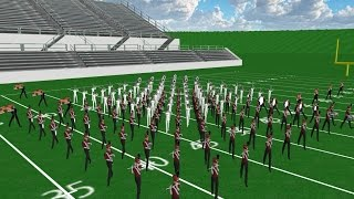 Counting Stars Marching Band Drill Design