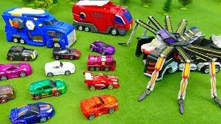 Mecard Cars Toys for Children 2 | Transforming Mecardimals for kids