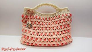 Easy Crochet Handbag Tutorial/ Crochet Purse/ Free Crochet Tutorial/ Bag O Day Tutorial #680