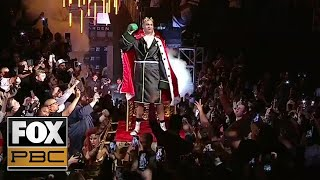 Tyson Fury's eccentric Ring Walk in preparation of his fight with Deontay Wilder | PBC ON FOX