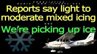 [REAL ATC] MIXED ICE affecting traffics at Burlington BTV