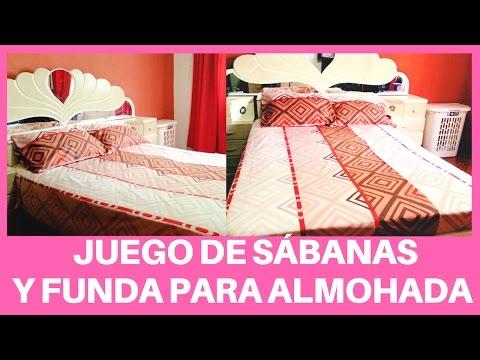 JUEGO DE SÁBANAS Y FUNDA PARA ALMOHADA