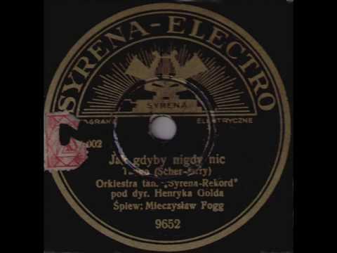 Henryk Gold & Mieczysław Fogg - Jak gdyby nigdy nic, 1936