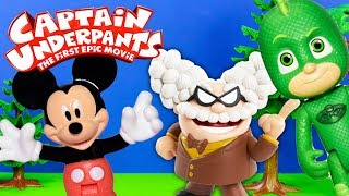 Captain Underpants' Professor Hides Laughter and Zaps Mickey Mouse and Gekko