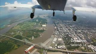 Flying around Savannah, GA