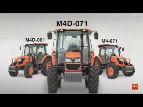 2019 Kubota M4D-071HDC12 Utility Tractor in Beaver Dam, Wisconsin - Video 1