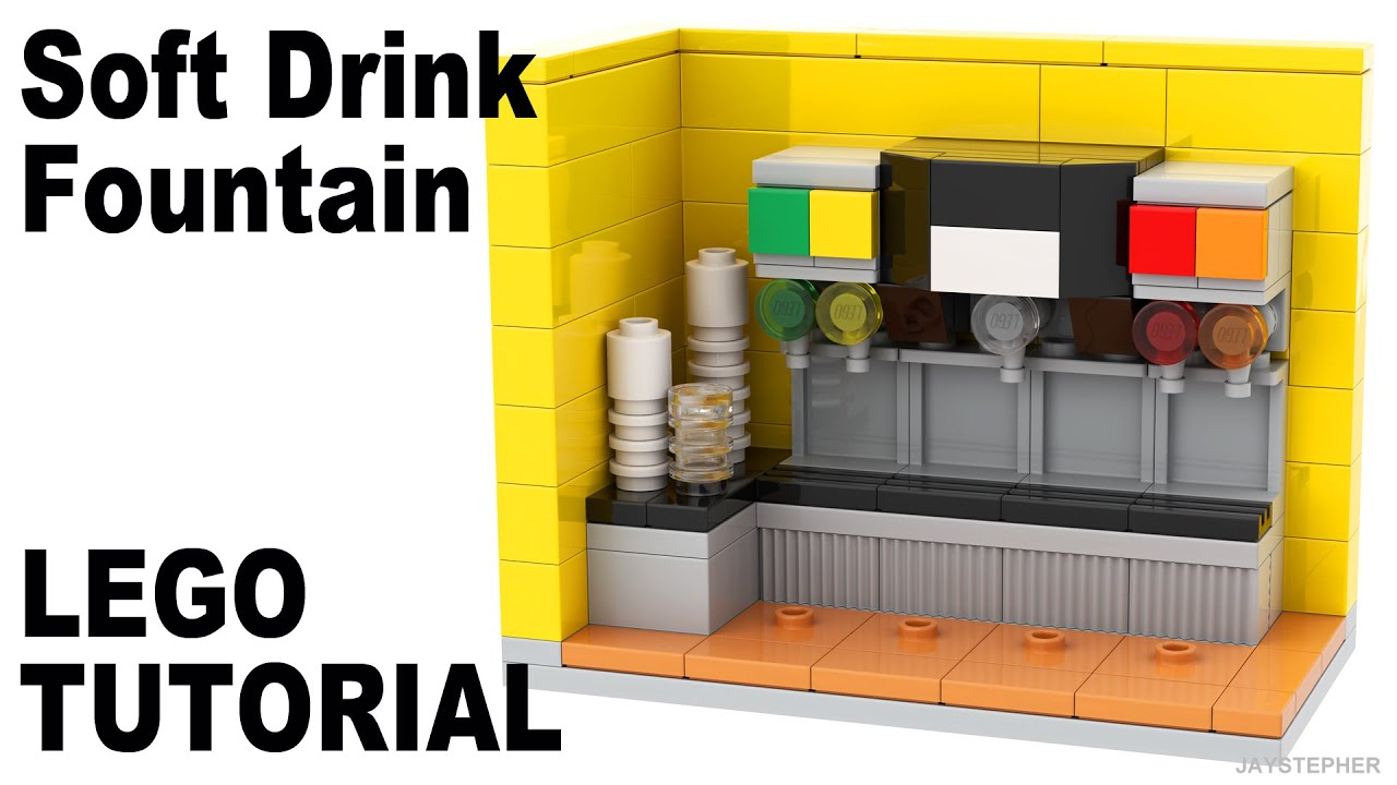 LEGO Soft Drink Fountain How To Tutorial
