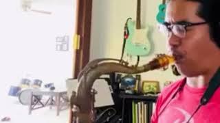 "Reggie Padilla 10MFAN ROBUSTO 7* tenor sax mouthpiece in orange Ultem--""ST. THOMAS"""