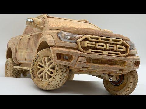Wood Carving - FORD RANGER RAPTOR 2020 - Woodworking Art
