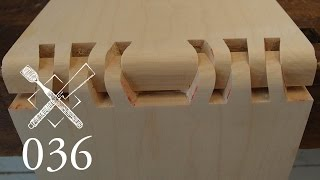 "Joint Venture Ep. 36: Double sunrise dovetail ""Kiku no gyaku kumi tsugi"" (Japanese Joinery)"