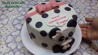 Торт Панда/How to make a Chocolate Panda Cake/ Fondant Bear Cake/Panda Cake for Baby Shower