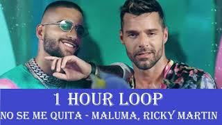 [1 HOUR LOOP] Maluma - No Se Me Quita ft, Ricky Martin