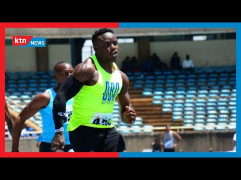 Kenyans react after Ferdinand Omanyala finished third in Men's 100M race to qualify for semi-finals