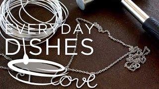 DIY Hammered Metal Jewelry