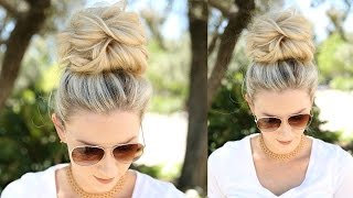 Easy Messy Bun Using No Bobby Pins