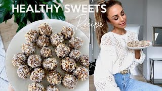 HEALTHY PROTEIN BLISS BALLS RECIPE | Annie Jaffrey