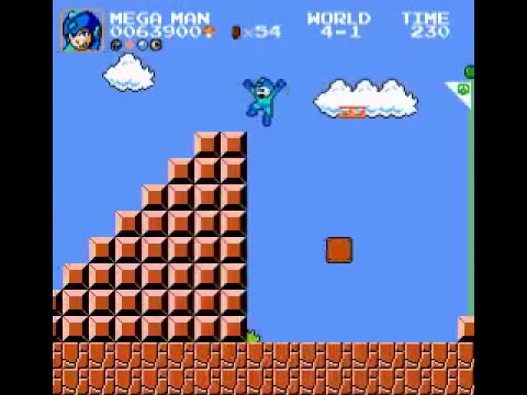 Super Mario Bros  Crossover 3 0 - as Mega Man - ITCHYisVegeta