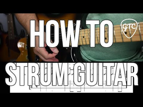 How to strum guitar | Beginner Rhythm 1