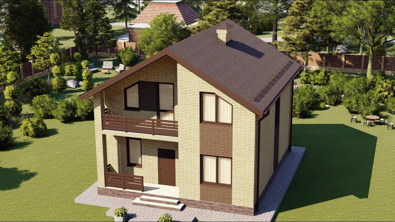 Проект дома с мансардным этажом 100-150 кв.м.