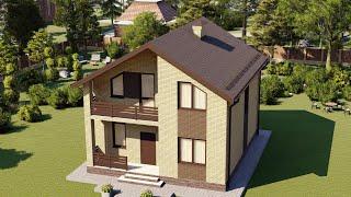 Проект дома 116-F, Площадь дома: 116 м2, Размер дома:  11,7x11,9 м