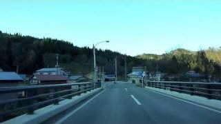 大蔵村肘折温泉から舟形町までの車載動画2010.11.27