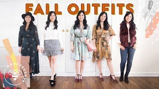 5 SIMPLE FALL OUTFITS 👗 Honeysuckle