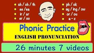 Phonic Sounds   Pronunciation   Long Video   English Speaking Practice   ESL   EFL