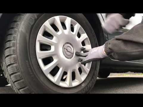 Radzierblenden montieren Radkappen entfernen Opel Corsa E Anleitung