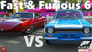 Forza Horizon 4: Fast & Furious 6 | Charger Daytona VS Ford Escort RS1600! Goliath Challenge!!