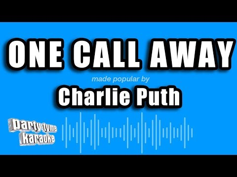 Charlie Puth-One Call Away (MR) (Karaoke Version) [ZZang