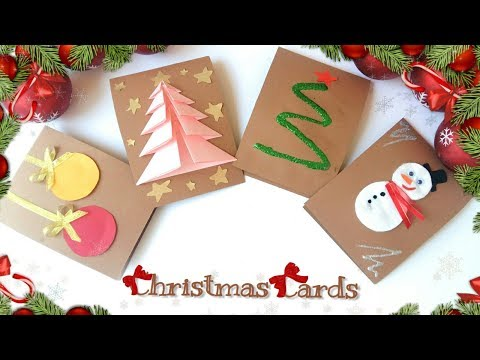 ⛄4 EASY DIY? Christmas Cards! Handmade!⛄
