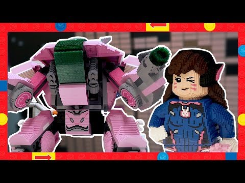 Building Life Size LEGO D.Va and Her Mech - Model Shop Time-Lapse