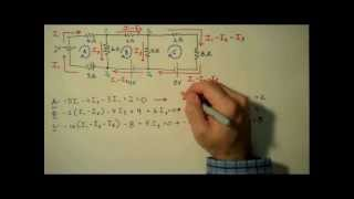 How to Solve a Kirchhoff's Rules Problem - Matrix Example