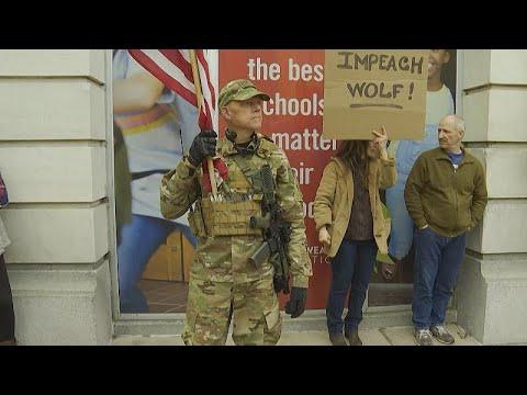 ΗΠΑ: Διαδηλώσεις κατά των περιοριστικών μέτρων