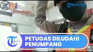 Viral Video Seorang Ibu-ibu Tak Terima Ditegur karena Tak Pakai Masker, Pukul dan Ludahi Petugas KRL